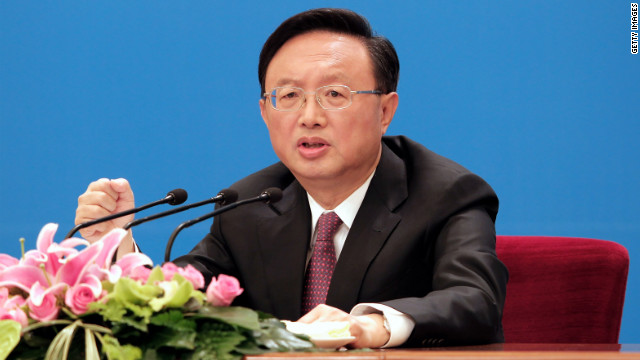 Chinese Foreign Minister Yang Jiechi speaks at a press conference at the National People's Congress on March 6, 2012, in Beijing, China.