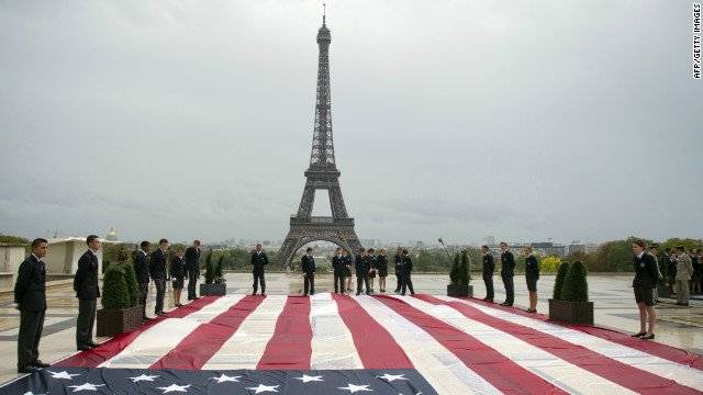 The French feel a strong political kinship with the U.S. because the countries fanned each other's revolutionary flames, says writer Pamela Poole.