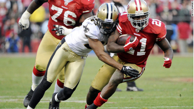 The New Orleans Saints, shown here against the San Francisco 49ers, are subject of uproar over
