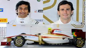 Narain Karthikeyan and Pedro de la Rosa