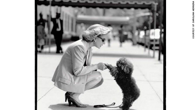 "Herrera with her poodle, Alfonso, in 1993. Herrera says, ""Style is something so different in everyone ... It's a special touch. Some people have it and some people cannot."""