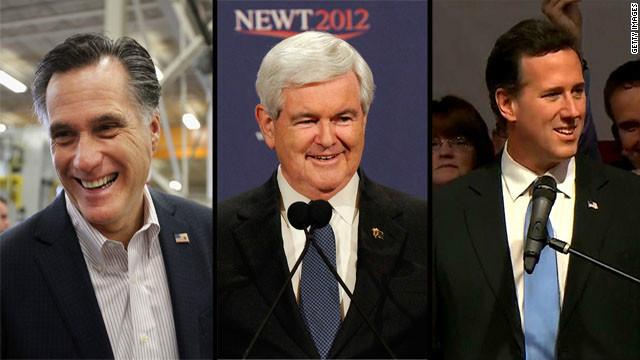 Romney gana seis estados; Santorum tres y Gingrich uno