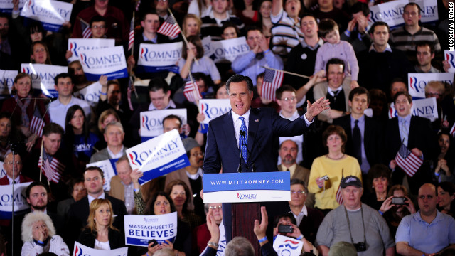 Mitt Romney addresses supporters Tuesday night in Boston. He has proven to be a tough-minded candidate, the author says.