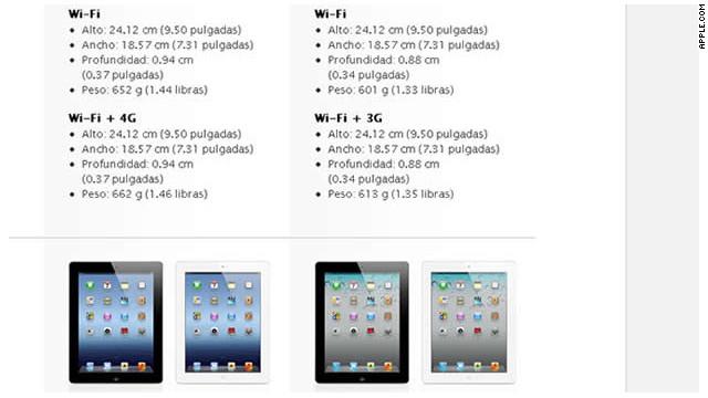 El nuevo iPad es más pesado y más grueso que el iPad 2