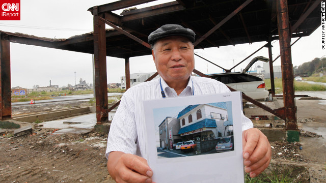 Seiki Sano, 81, stands where his home once stood in Sendai, Japan. It was destroyed in March 2011 in a devastating earthquake and tsunami. The fisherman also lost both of his boats in the tsunami. &quot;It's hard to rebuild,&quot; he told iReporter Anthony Altit. &quot;I won't live to see it happen.&quot;