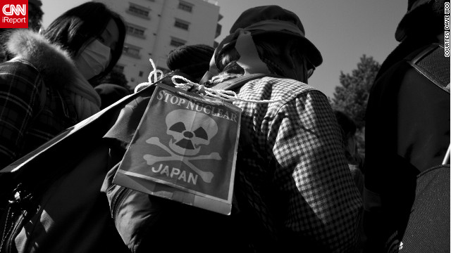 The Fukushima meltdown has caused many Japanese to lash out against nuclear power in the country. &quot;As the date of the one-year mark comes closer, these protests only grow stronger,&quot; said iReporter David Woo.