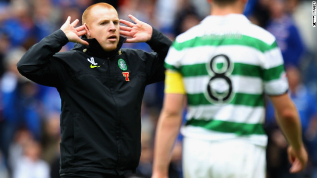"Many Celtic fans have reveled in their neighbors' discomfort, while chief executive Peter Lawwell has rejected claims Celtic need Rangers to thrive. ""We look after ourselves,"" he said. ""We don't rely on any other club."" Manager Neil Lennon, left, who had a touchline bust up with McCoist earlier this season, agrees."