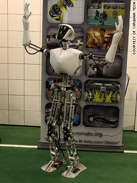 The NRL is working on the project with Virginia Tech and the University of Pennsylvania. SAFFiR will follow on from Virginia Tech's CHARLI-L1 robot (pictured) says the NRL.