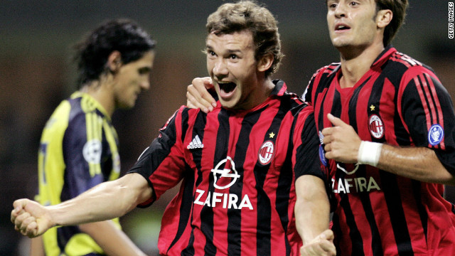 One goal behind Van Nistelrooy on the overall list is Ukraine striker Andriy Shevchenko. He scored four times in AC Milan's 4-0 away to Turkey's Fenerbahce in 2005.