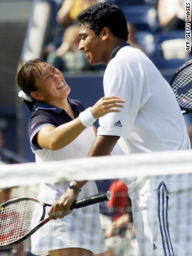 Bhupathi enjoyed grand slam mixed doubles success with another Japanese partner, winning the 1999 U.S. Open crown with Ai Sugiyama, defeating Americans Kimberly Po and Donald Johnson.