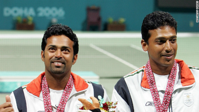 Alongside their three grand slam titles, Bhupathi and Paes also struck gold in the men's doubles at the 2006 Asian Games, held in Qatar.