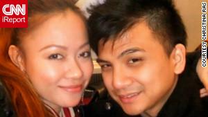 Christina Ras with boyfriend Hiroshi Inaba