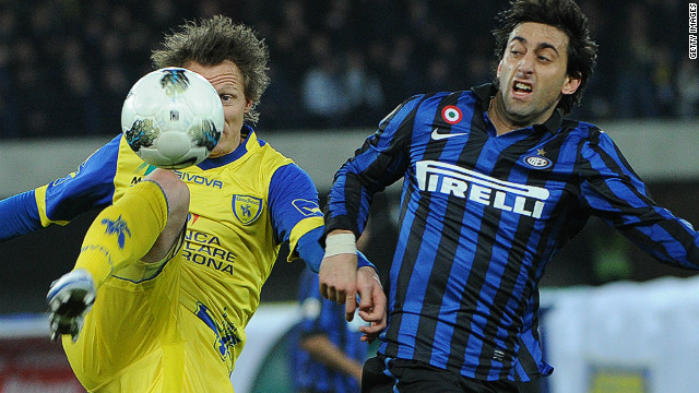 Argentine striker Diego Milito missed a penalty but also scored against Chievo as Inter Milan ended winless run in Serie A on Friday