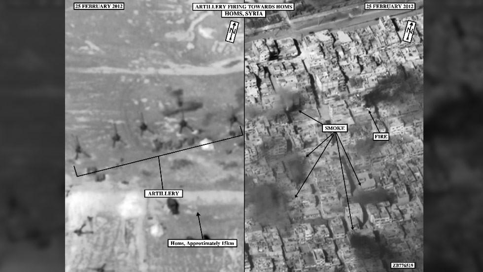 Imágenes satelitales del daño en Siria