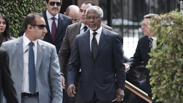 Kofi Annan dará informe a las Naciones Unidas sobre su visita a Siria
