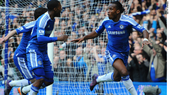 Drogba reaches landmark for Chelsea