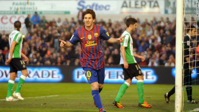 Messi reaches 50 goals in Barca win