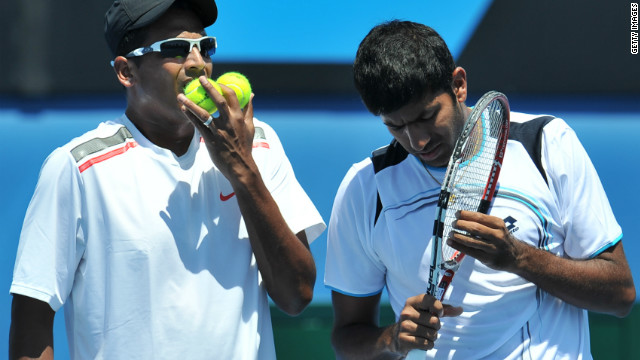 Bhupathi teamed up with compatriot Rohan Bopanna (R) at the recent Australian Open, where they were defeated in the third round by Americans Scott Lipsky and Rajeev Ram.
