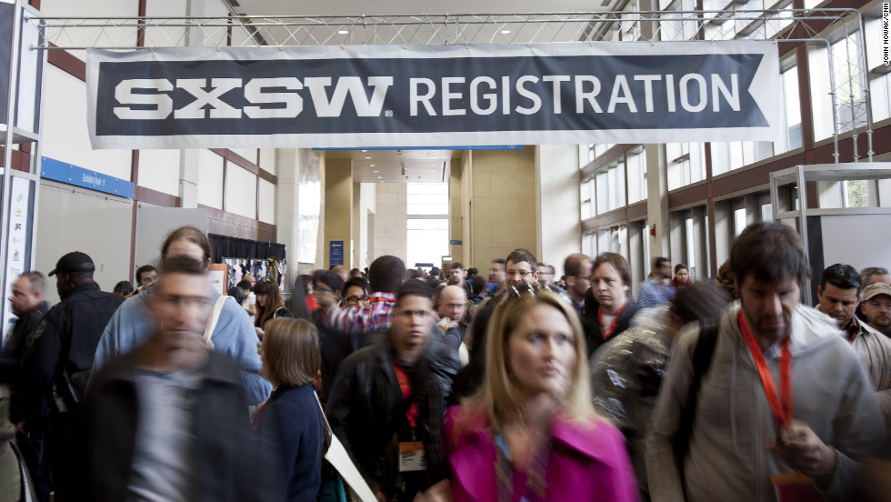 A record 25,000 people are attending the Interactive portion of the South by Southwest festival in Austin, Texas. The influential event, which ends Sunday, also includes film and music conferences and turns the streets of downtown Austin into a carnival of humanity.