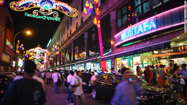 Little India is a remnant of Singapore's previous life as a colony of the British Empire and plays host to a vibrant expatriate Indian community.