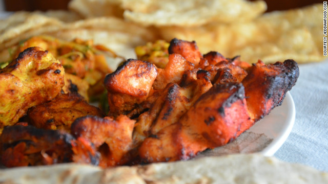 A grilled chicken shish taouk from Tikka Express, an Indian fast food franchise with branches across the Middle East. It is one of around 100 branches of fast food chains in Jeddah
