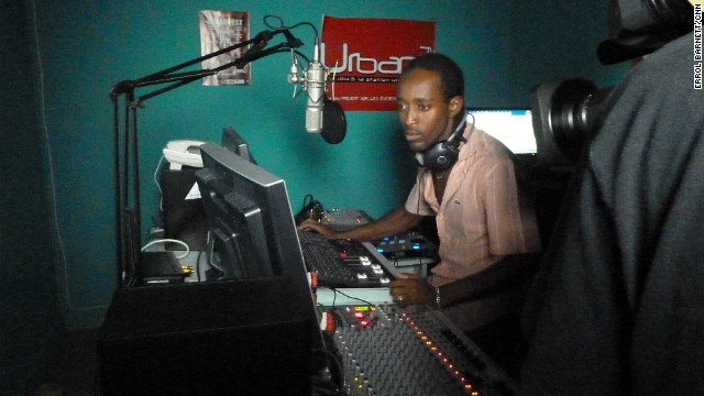 Errol Barnett's first stop during his hip hop tour in Gabon -- Urban FM, one of the most popular radio stations in the country.