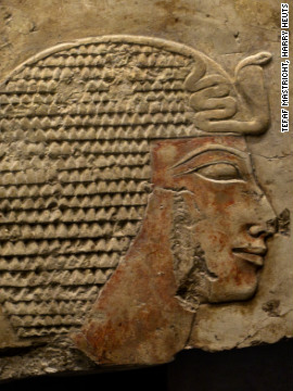 Antiquities from across the globe are displayed at the fair, such as this Egyptian relief depicting Queen Hatshepsut, dating back to 1479-1457 BC.