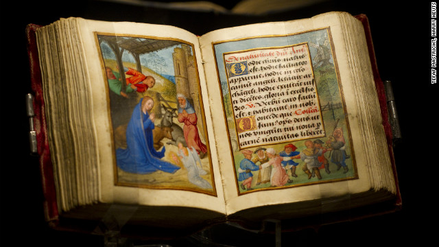 Rare volumes, such as this illuminated manuscript, the Imhof Prayer Book, illustrated by 16th century Flemish painter Simon Bening, are a draw to collectors. 