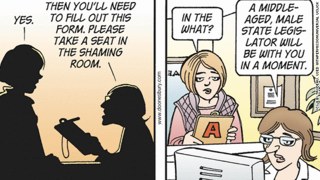 Opinion: &#039;Doonesbury&#039; strip says Texas&#039; abortion law is rape - I agree