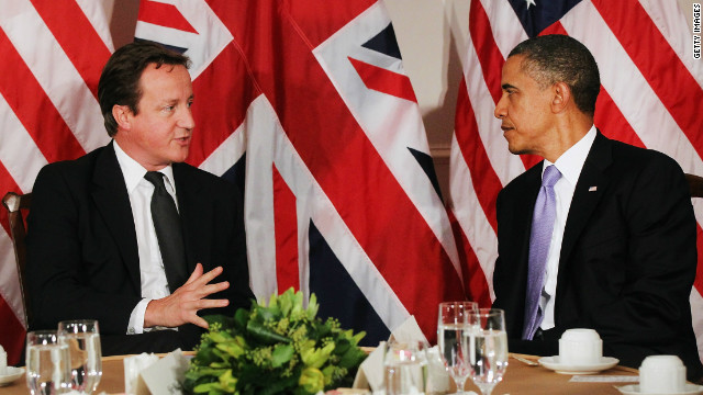 President Barack Obama and British Prime Minister David Cameron met in New York last year.
