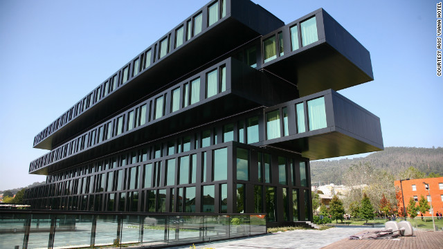 Axis Viana Hotel in Viana do Castelo, Portugal. See more photos of the hotels at <a href='http://www.budgettravel.com/slideshow/photos-the-hotel-worlds-most-striking-architecture%2C8367/?cnn=yes' target='_blank'>BudgetTravel.com</a>.