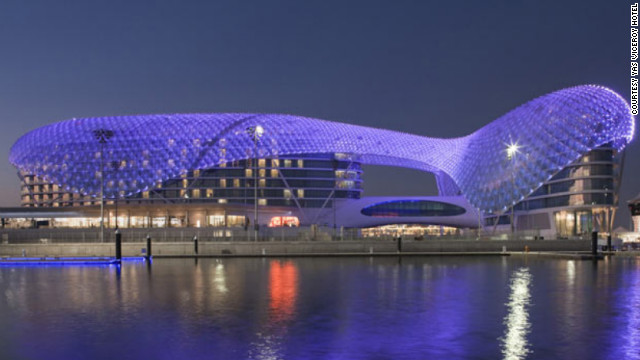 Yas Viceroy Hotel in Abu Dhabi. See more photos of the hotels at <a href='http://www.budgettravel.com/slideshow/photos-the-hotel-worlds-most-striking-architecture%2C8367/?cnn=yes' target='_blank'>BudgetTravel.com</a>.