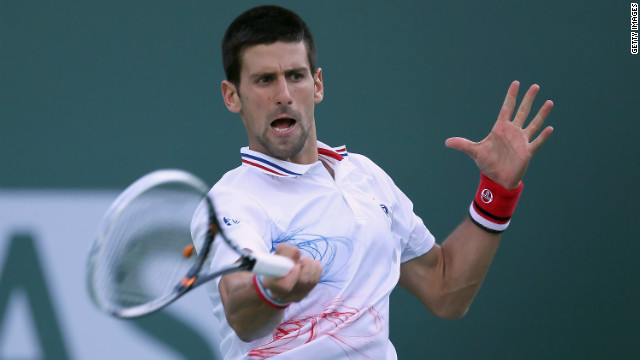 World No. 1 Novak Djokovic defeated Rafael Nadal in the 2011 Indian Wells Masters final.