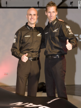 "The DeltaWing will not be driven by the ""Caped Crusader"" but by Germany's Michael Krumm and Britain's Marina Franchitti, left -- the younger brother of IndyCar legend Dario Franchitti and cousin of Formula One's Paul di Resta."