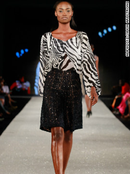 A model wears Nigerian label Phunk Afrique.