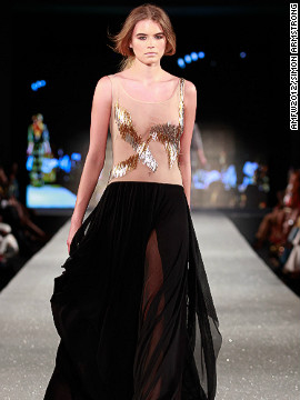 A model wears Gavin Rajah.
