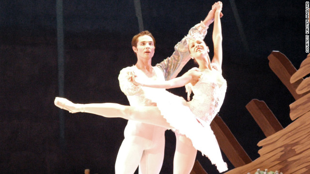 Haglund dances in a production of &quot;The Nutcracker.&quot;