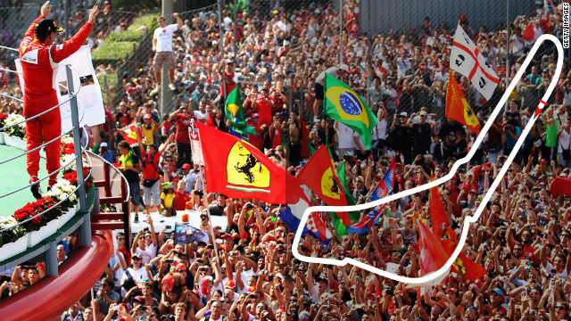 Italian Grand Prix: September 9, Monza <br/><br/>Defending champion: Sebastian Vettel, Red Bull&#8221; border=&#8221;0&#8243;/><cite style=