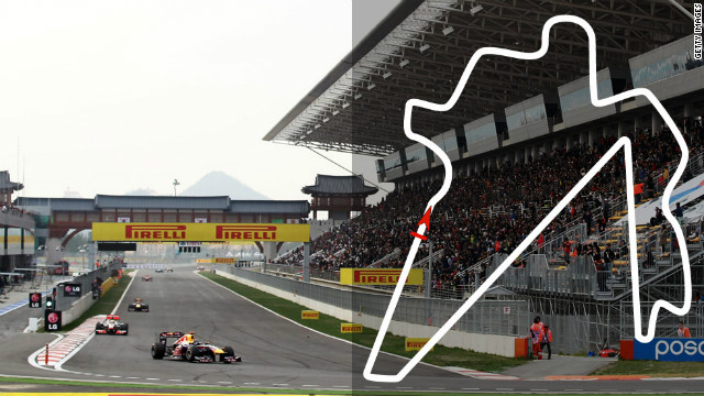 Korean Grand Prix: October 14, Yeongam <br/><br/>2012 champion: Sebastian Vettel, Red Bull