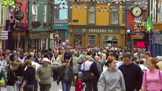 The Fleadh Cheoil is an annual festival of Irish traditional music, dance, song and language. The festivities here are in Listowel in County Kerry.