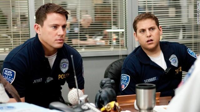 Channing Tatum (L) and Jonah Hill star in
