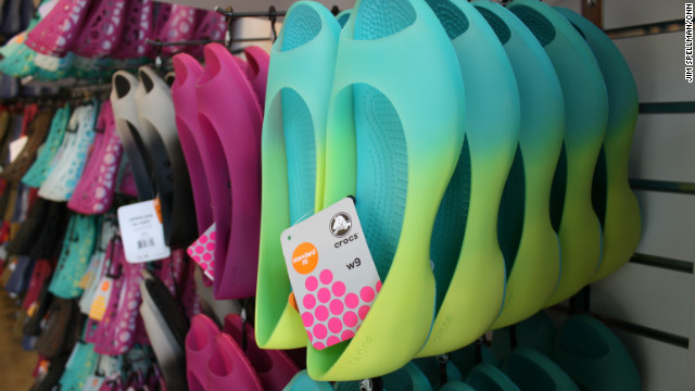 Crocs' new shoe styles are extremely popular, accounting for nearly half of the company's sales. The shoes are still comfortable and easy to put on and take off, just like Crocs' old-school clogs.