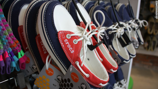 Crocs' new line includes boat shoes (like the ones pictured here), sneakers and winter boots. They are designed to be as comfortable as the clogs and appeal to more style-conscious consumers.