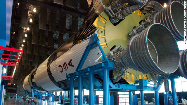 The Saturn V inside the Davidson Center for Space Exploration is another imposing testament to U.S. space exploration.