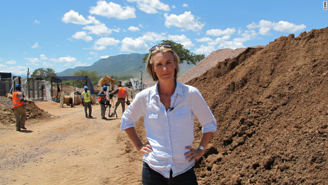 The Marketplace Africa team, along with host Robyn Curnow (pictured), gained exclusive access to the diamond fields after weeks of negotiations.