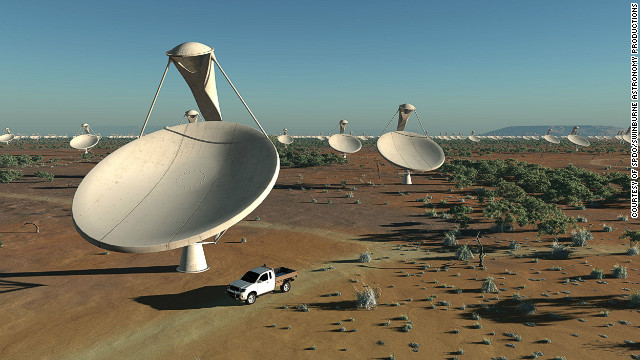 Each antenna dish will measure around 15 meters across. A dense cluster of dishes will sit in a &quot;central core region&quot; with others spread out over an area over at least 3,000 kilometers. 