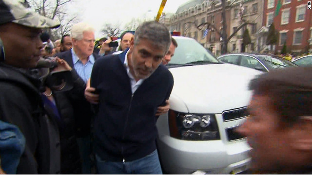 Clooney arrested during protest outside Sudanese Embassy