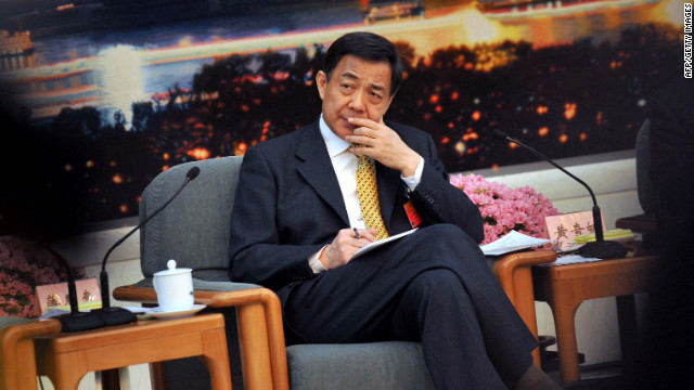 Bo Xilai at the Great Hall of the People in Beijing this month before his sacking as Communist Party secretary of Chongqing. 