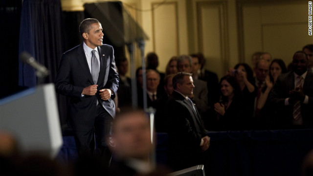 President Obama returned to Chicago Friday to campaign and fundraise.