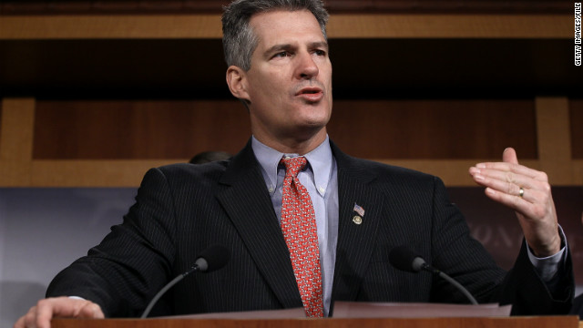 Sen. Scott Brown, R-Massachusetts, is working on getting more visas for Irish immigrants.